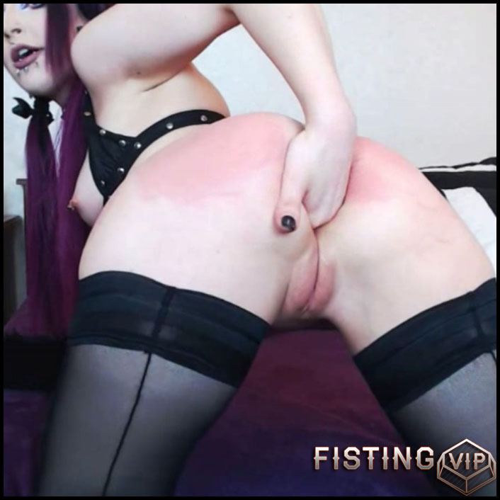 Dildo punished asses