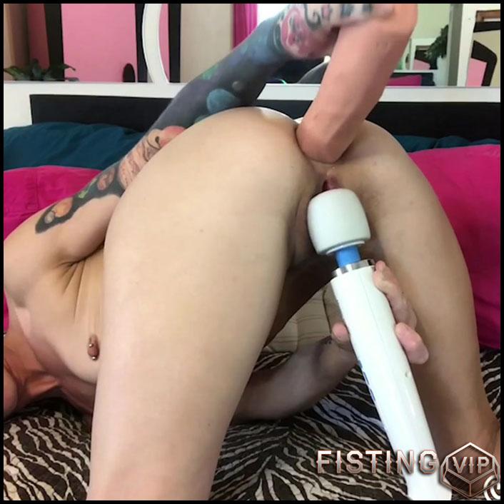 Badlittlegrrl huge dildo penetration in asshole and enema porn in bathroom - Full HD-1080p, BBC dildo, huge dildo (Release June 8, 2018)