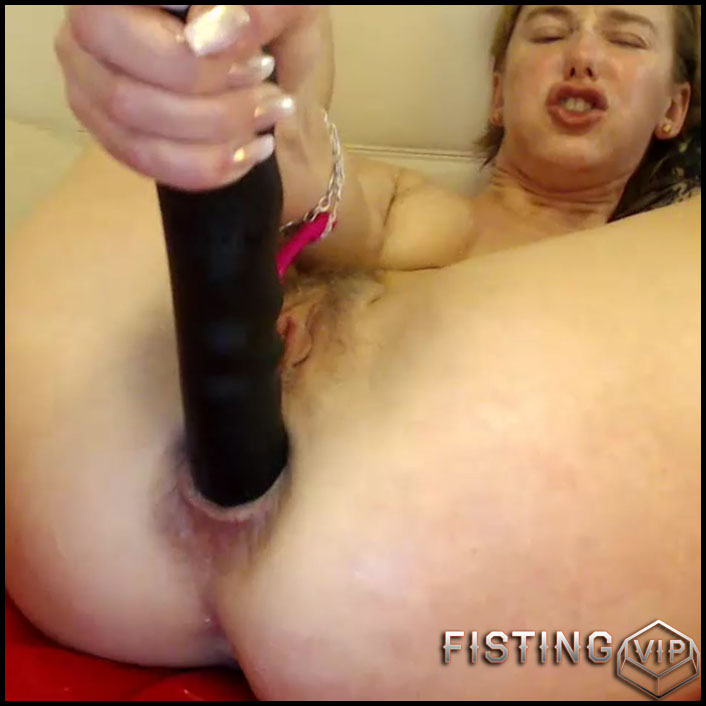 Bbmix996 solo penetration double dildo – one in pussy and other in anal  gape - dildo