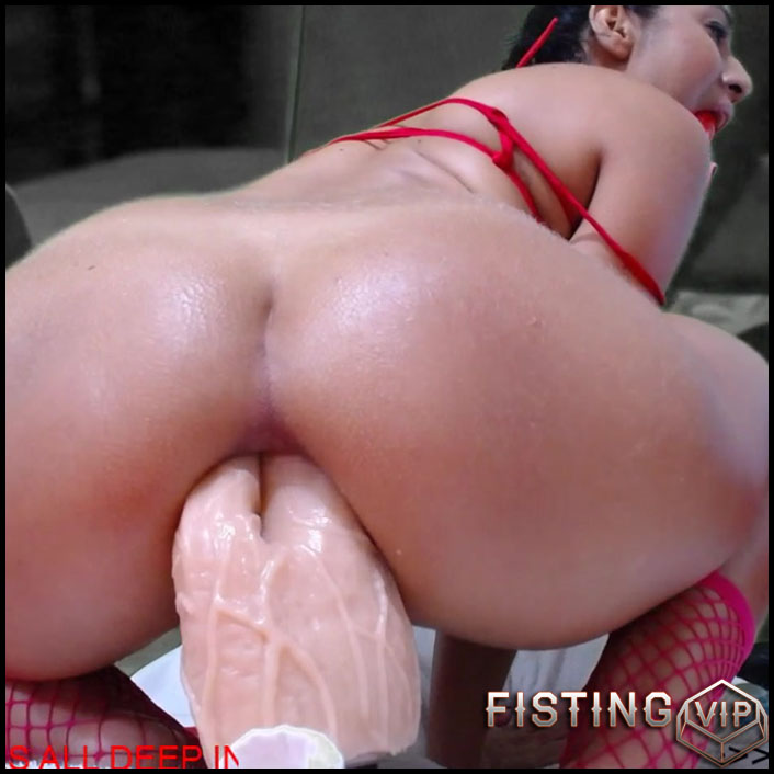 Girl Riding Creamy Dildo