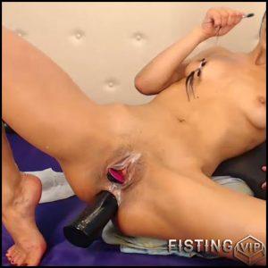 Dirty skinny latin girl big black dildo insertion in her narrow anus – dildo anal, huge dildo (Release June 25, 2018)