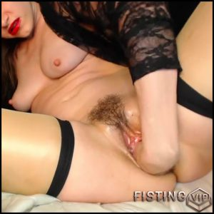 Hairy girl AdalynnX insert huge dildo in her piercing pussy and fisting sex too – HD-720p, huge dildo, pussy fisting, solo fisting (Release June 30, 2018)