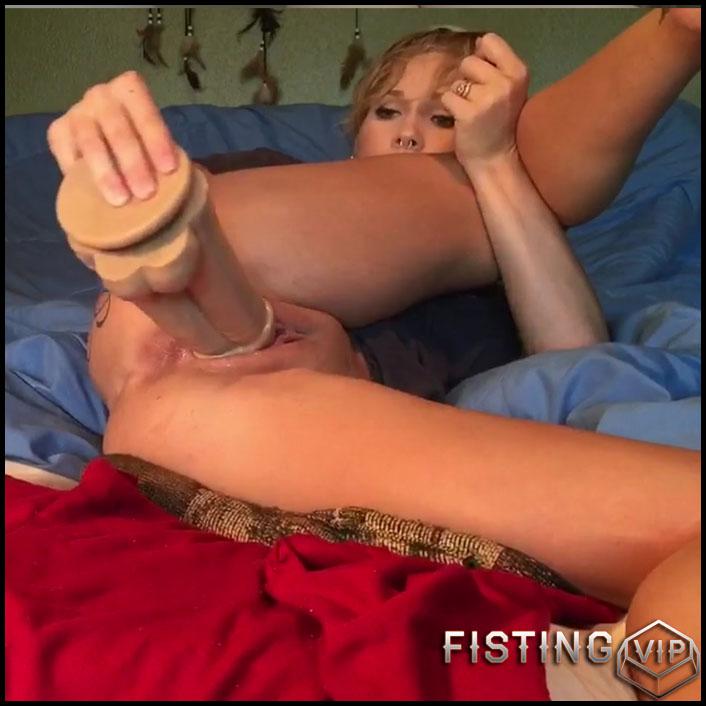 Dildo Double - LilySkye DP me please – wonderful booty wife dildo porn – HD ...