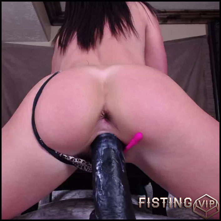 Big Booty Latina Dildo Ride