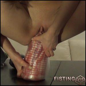 Skinny girl penetration big bottle, dildo and huge eggplant in cunt – HD-720p, huge dildo, monster dildo, vegetable pussy (Release July 24, 2018)