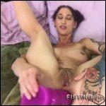 Badlittlegrrl penetration her huge dildo in biggest anal gape – Full HD-1080p, dildo anal, huge dildo (Release August 31, 2018)