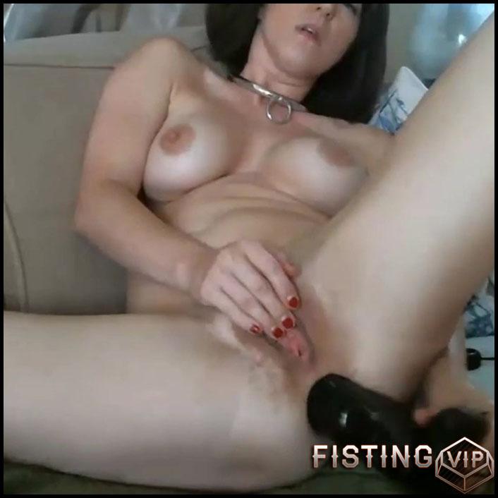 Busty camgirl Molly Hendricks big black dildo anal games - HD-720p, dildo anal, huge dildo (Release August 29, 2018)