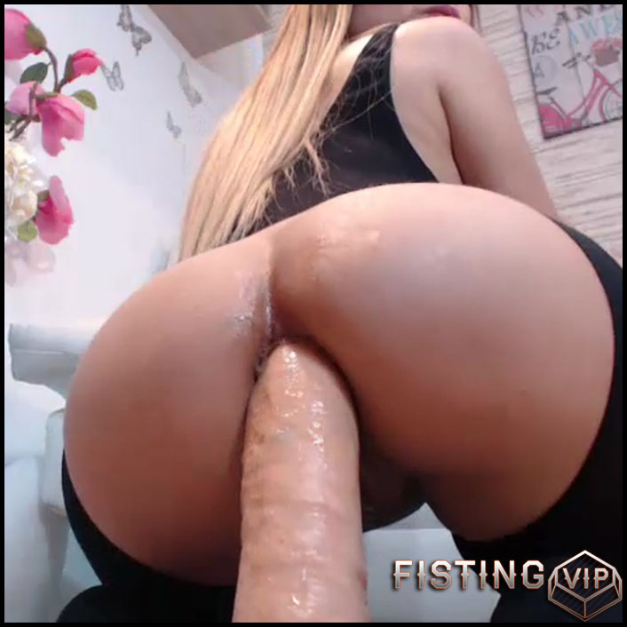 Milf Riding Monster Dildo