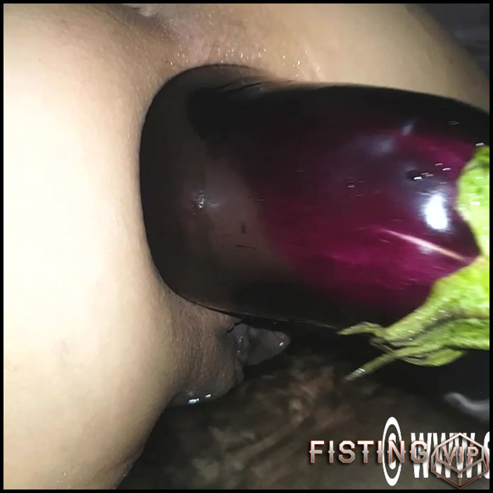 Extinguisher and huge eggplant deep in prolapse anus - HD-720p, anal prolapse, vegetable anal (Release August 27, 2018)1
