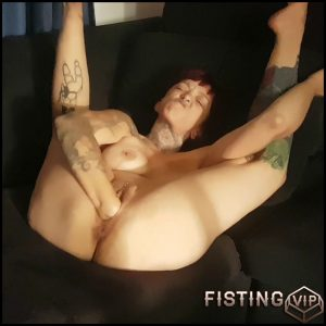 NymphNova lots of fisting and gaping and try double fisting – Full HD-1080p, double fisting, pussy fisting, solo fisting (Release August 3, 2018)