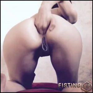 Busty milf with piercing nipples rides on a monster black dildo – huge dildo, monster dildo (Release September 16, 2018)