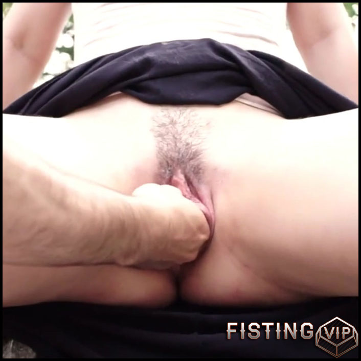 Wonderful wife GodInAnAlcove vaginal fisting and tentacle dildo porn outdoor - Full HD-1080p, fisting outdoor, pussy fisting (Release October 7, 2018)
