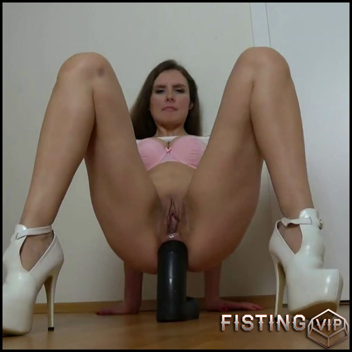 Kinky blonde SexyNaty insertion giant black dildo in sweet ass - Full HD-1080p, BBC dildo, dildo anal (Release November 6, 2018)