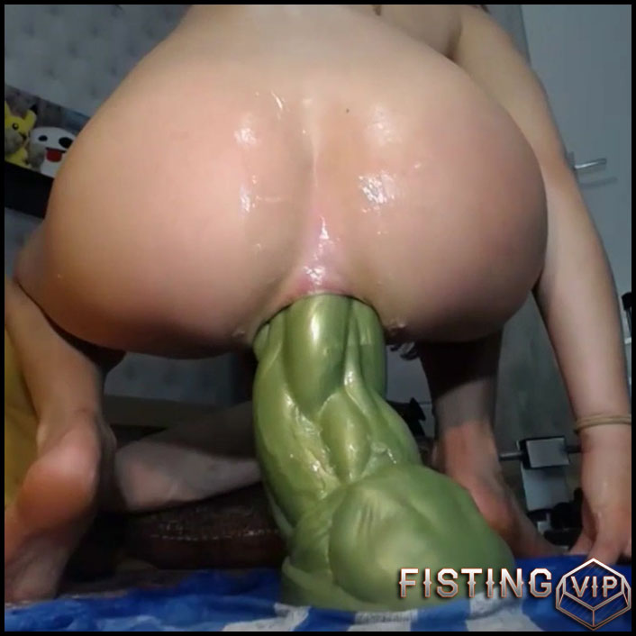 Girl Riding Dildo Bathroom