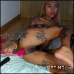 Big Tits Tattooed Asian Girl Huge Dildo Anal Amazing Fuck – Asianqueen93 – Teen Anal