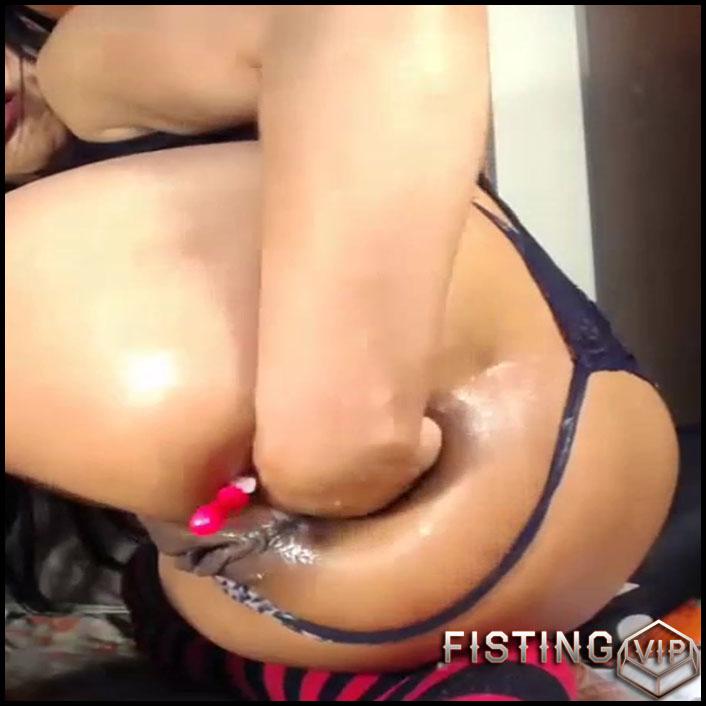 Perverted Latin Girl Little Rosebutt Ruined During Deep Fisting - Amateur Fisting