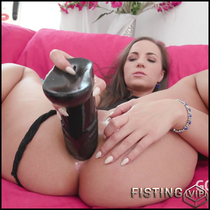 Anal Fisting And BBC Dildo In Sweet Gape - Kristy Black - Solo Fisting