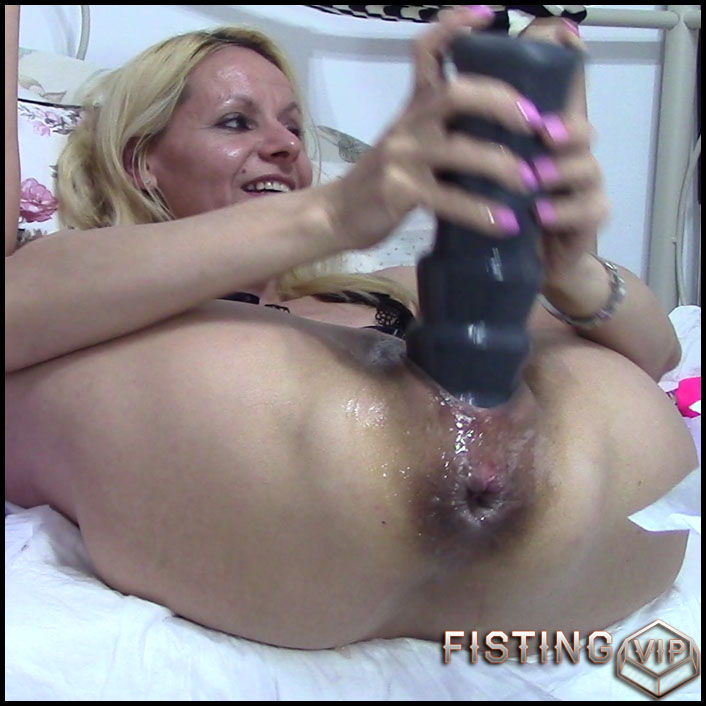 Ass To Pussy With Giant Prolapse - RaisaWetsX - Gape Ass, Huge Dildo