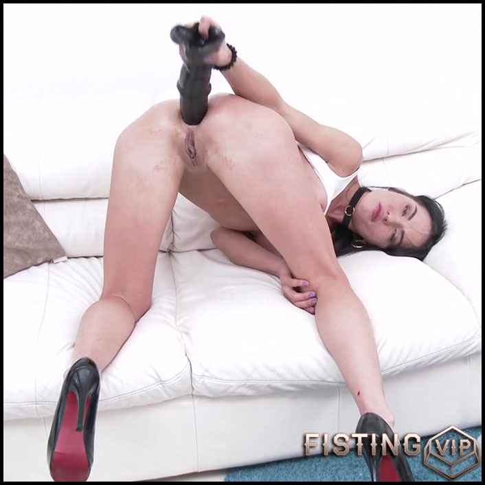 Giant BBC Dildo Deeply In Gape Anal - Nataly Gold - Dildo Riding