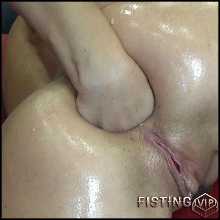 Huge Fist Gape And Nasty Squirt With Rosebutt - BlackAngel - Anal Fisting