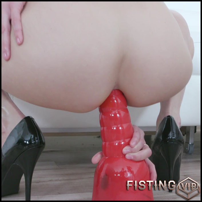 Interracial And Dildo Anal Porn To Big Gaping - Andi Rye - Dildo Riding