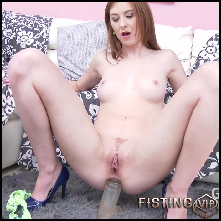 Monster Anal Gape Ruined With Rubber Dildo And TAP - Linda Sweet - Gaping Anal, Сolossal Вildo