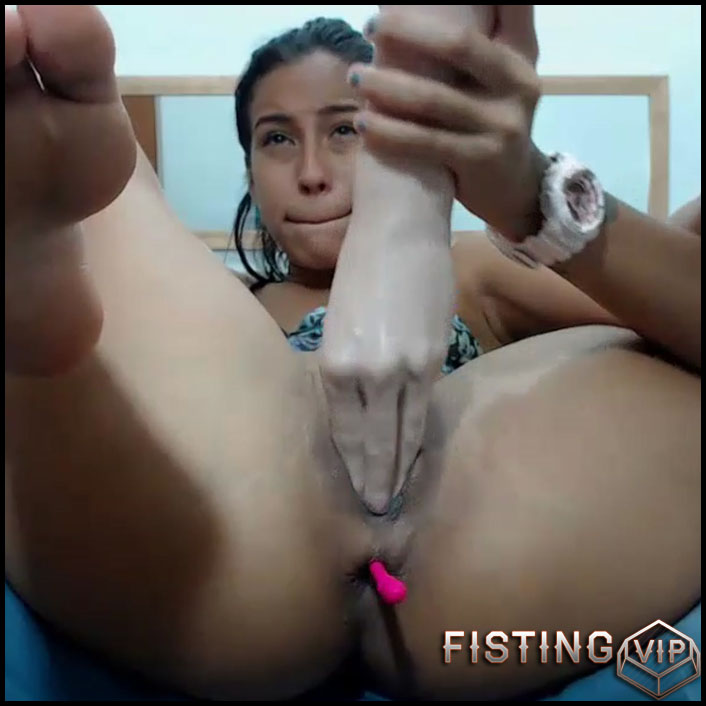 Penetration Double Dildos In Her Stretched Pussy - Kristybennet - Double Dildo