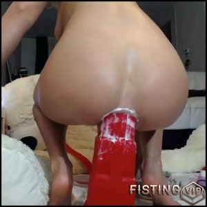 Rare Xmas porn – Fully Rides On A Huge Rubber Christmas Boot Dildo – Siswet19 – Bad Dragon Dildo, Colossal Dildo