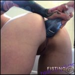 Secretly Slutty Anal Stretching In The Bathroom – Badlittlegrrl – Bottle Anal