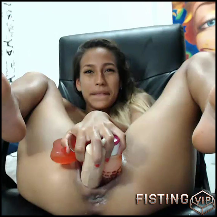 Triple Dildos Vaginal And Anal Fuck Herself - Kristybennet - Teen Anal