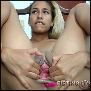 Webcam Young Teen Try Double Dildo Penetration In Gape Pussy – Kristybennet