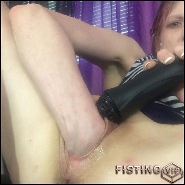 Wrist Deep Vaginal Fisting Closeup Homemade - Ashley Mercy - Solo Fisting