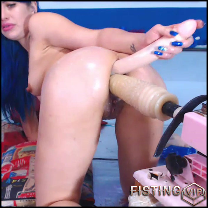Anal Fisting And Double Dildos Anal Hardcore In Doggy Pose - Karlakole - Ball Anal, Double Dildo