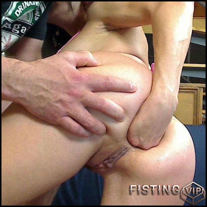 Anal Frenzy With Dildo, Cock And Fist - KinkyFrenchies - Solo Fisting