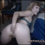 Cute Girl Anal Fisting Sex And Dildos Porn In Doggy Style Pose – Solo Fisting