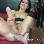 Deep Fisting And Toying Ass To Prolapse – BIackAngel – Double Dildo