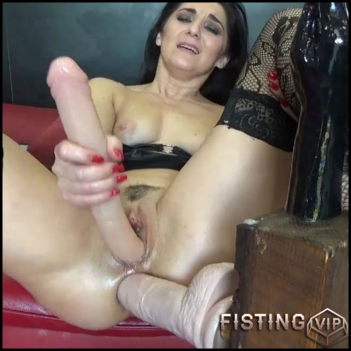 Deep Fisting And Toying Ass To Prolapse - BIackAngel - Double Dildo