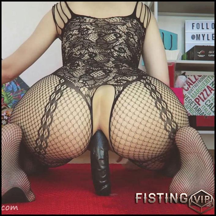 Double Ended Dildo All Up My Ass Webcam - Mylene - Long Dildo