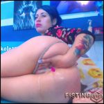 Fantastic Big Ass Teen Anal Fisting And Dildo Sex Herself Extreme – Karlakole – Huge Dildo, Solo Fisting