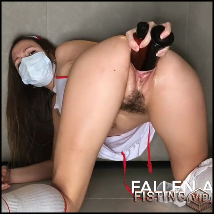 Honey Nurse Maked Double Penetrates In Cunt Webcam - Anastazzzi - Double Dildo