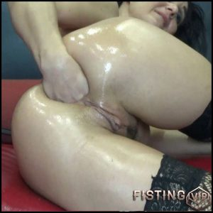 Painful Anal Fist With Rosebutt And Gape – BlackAngel – Solo Fisting