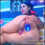 Crazy Teen DAP With Huge Ball And Big Dildo – Karlakole – Anal Fisting