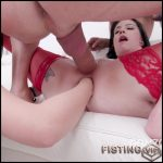 Huge Dildo And Fisting Sex To Gaping With DAP – Anna De Ville and Lady Dee – Lesbian Fisting