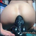 Liveshow Monster Rubber Black Dildo Deeply Anal – Siswet19 – Colossal Dildo