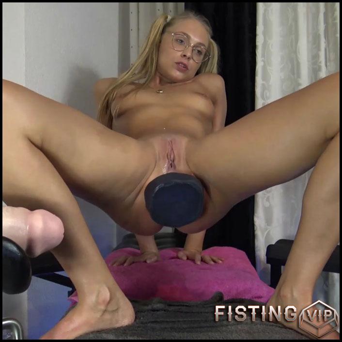 Monster Black Dildo Fully Fuck In Her Shocking Asshole - Siswet19 - Colossal Dildo