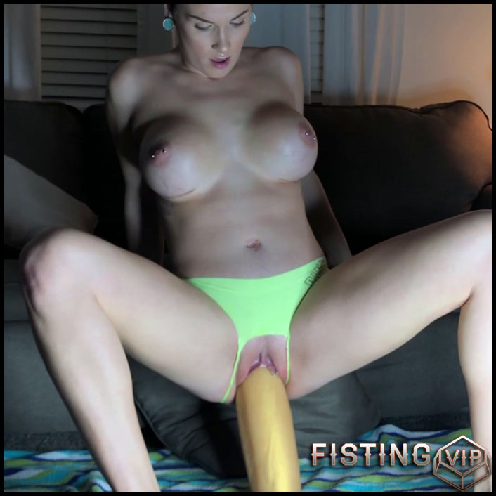 Riding Huge Dildo In Sweet Gaping Pussy - LilySkye - Colossal Dildo, FullHD