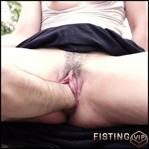 Skinny Hairy Wife Vaginal Dildo And Fisting Sex Outdoor With Husband – Pussy Fisting