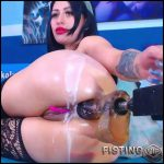 Fucking Machine Anal And Vaginal Sex Hardcore Herself – Karlakole – Huge Dildo