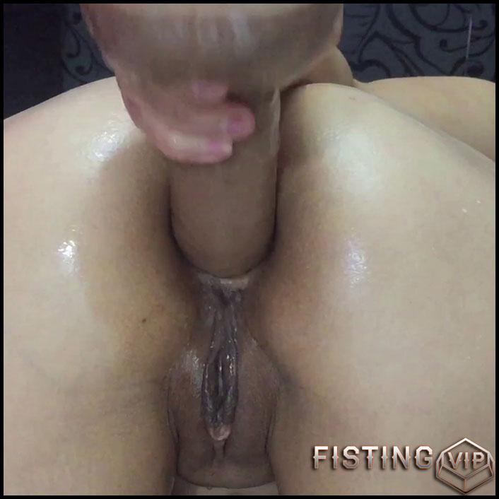 I Work In Doggy Pose - KristinaSlut - Huge Dildo, Gaping Anal