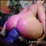 Bad Dragon Dildo Hardcore Anal Penetration – Cherryflowerxxx and Siswet19 – Huge Dildo, Lesbian